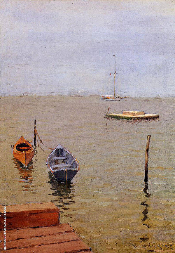 A Stormy Day Bath Beach By William Merritt Chase