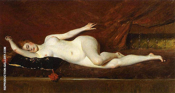 A Study in Curves Painting By William Merritt Chase - Reproduction Gallery