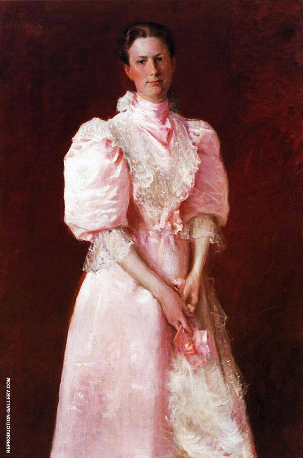 A Study in Pink Painting By William Merritt Chase - Reproduction Gallery