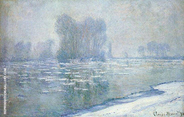Ice Floes Misty Morning 1893 By Claude Monet