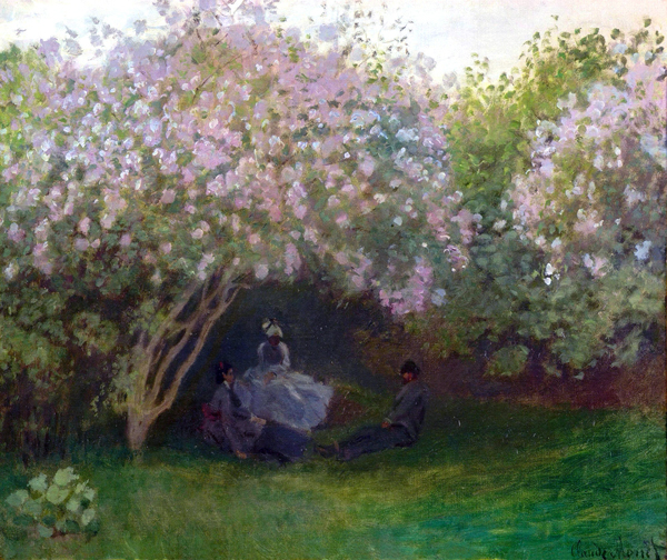 Lilacs Grey Weather 1872 By Claude Monet