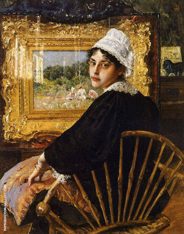 A Study The Artist's Wife 1892 Painting By William Merritt Chase
