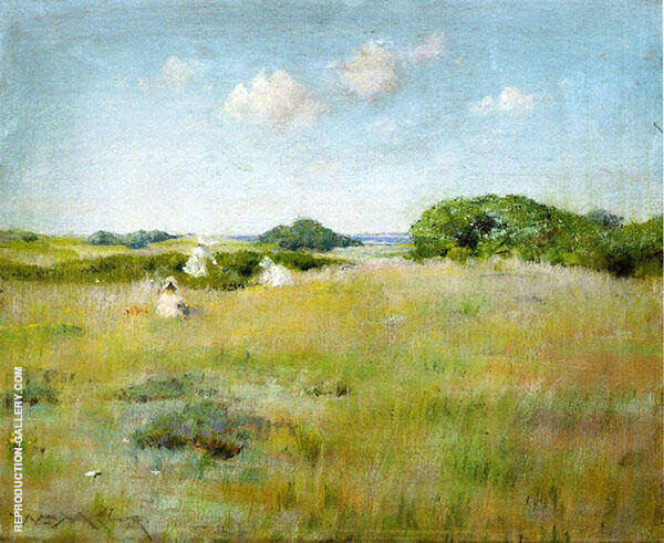 A Summer Day Painting By William Merritt Chase - Reproduction Gallery