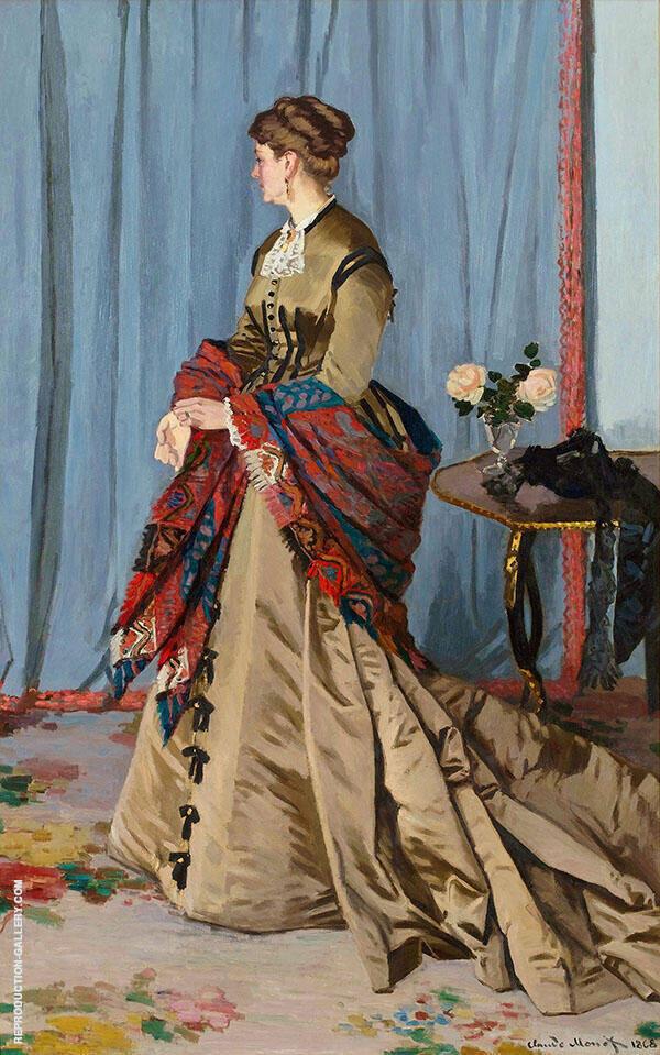 Madame Gaudibert 1868 By Claude Monet