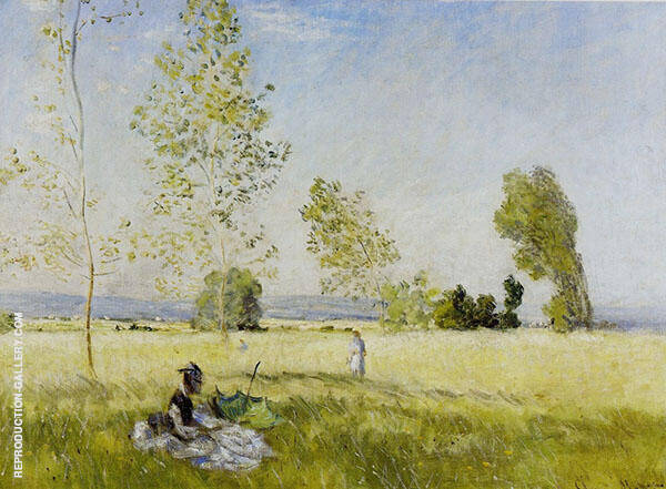 Meadow at Bezons 1874 By Claude Monet