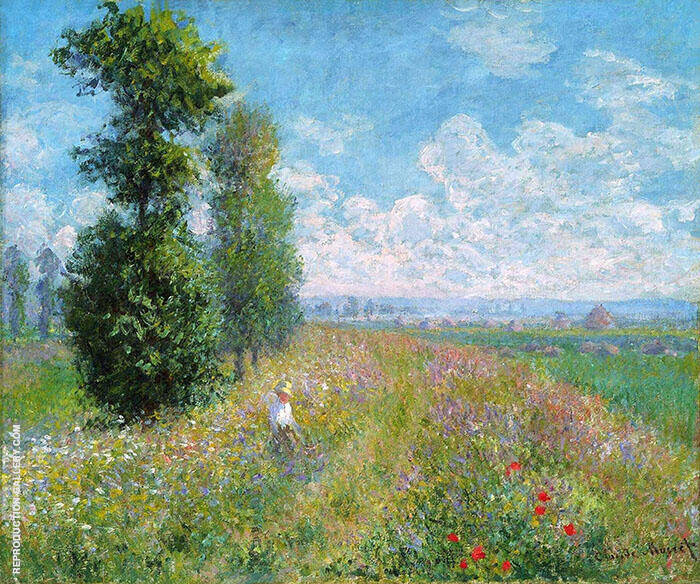 Meadow with Poplars 1875 By Claude Monet