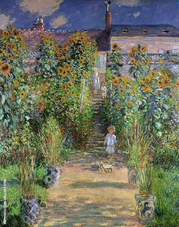 Monet's Garden at Vetheuil 1881 By Claude Monet