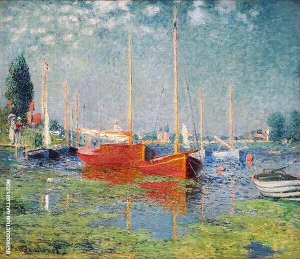 Pleasure Boats at Argenteuil 1875 -2 By Claude Monet