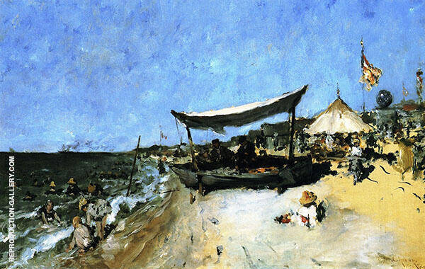 At The Shore Painting By William Merritt Chase - Reproduction Gallery