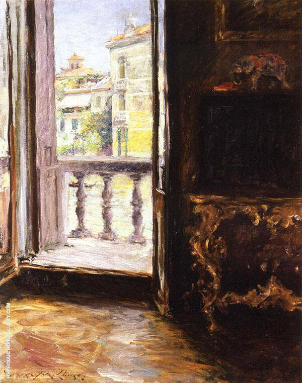 A Venetian Balcony By William Merritt Chase