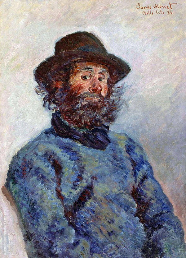 Portrait of Poly Fisherman at Kervillaouen 1886 By Claude Monet
