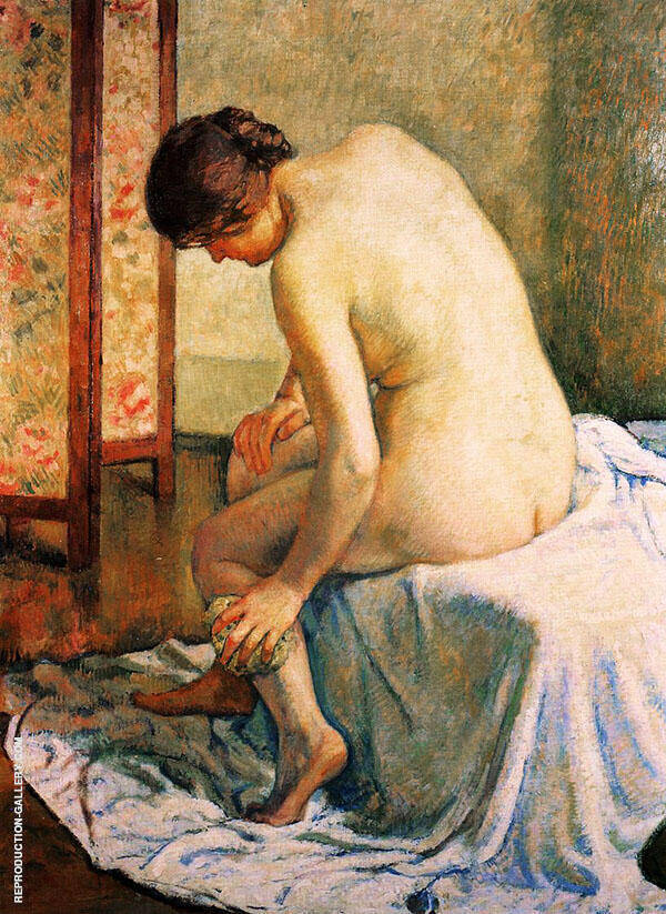Bather Painting By William Merritt Chase - Reproduction Gallery