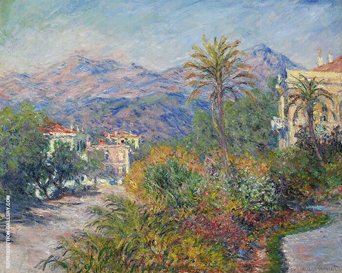 Villas at Bordighera 1884 By Claude Monet