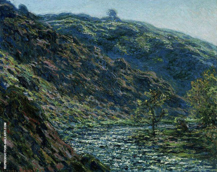 Sunlight on the Petit Creuse 1889 By Claude Monet