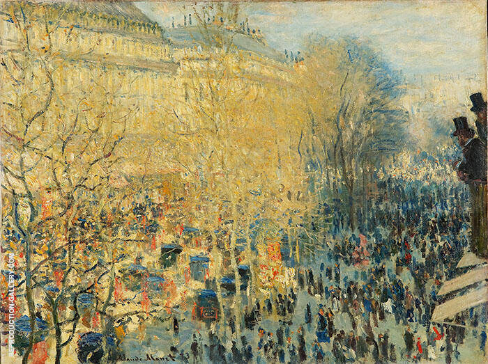 Boulevard Capuchine 1873 By Claude Monet