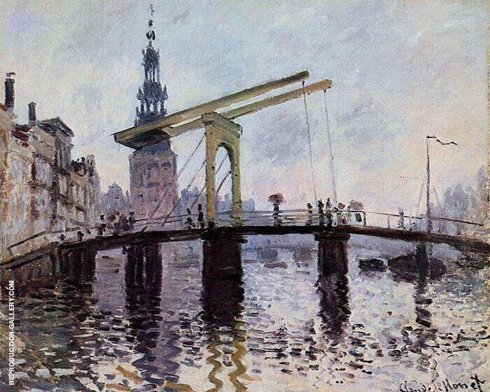 Bridge Amsterdam 1874 By Claude Monet