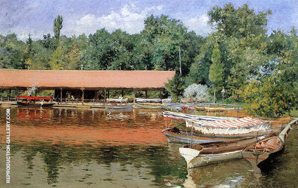 Boat House Prospect Park By William Merritt Chase