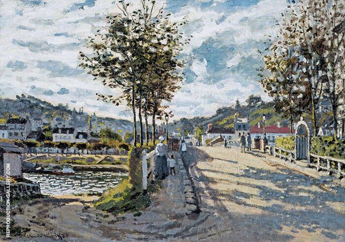 The Bridge at Bougival 1869 By Claude Monet