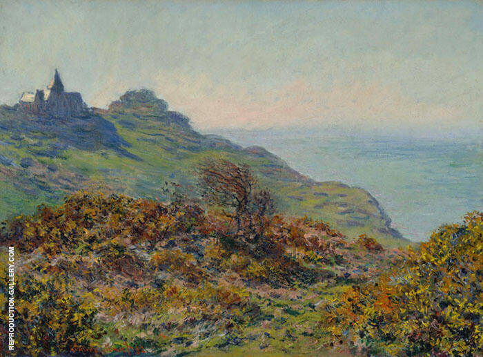 The Church at Varengville and the Gorge of Moutiers Pass 1882 By Claude Monet