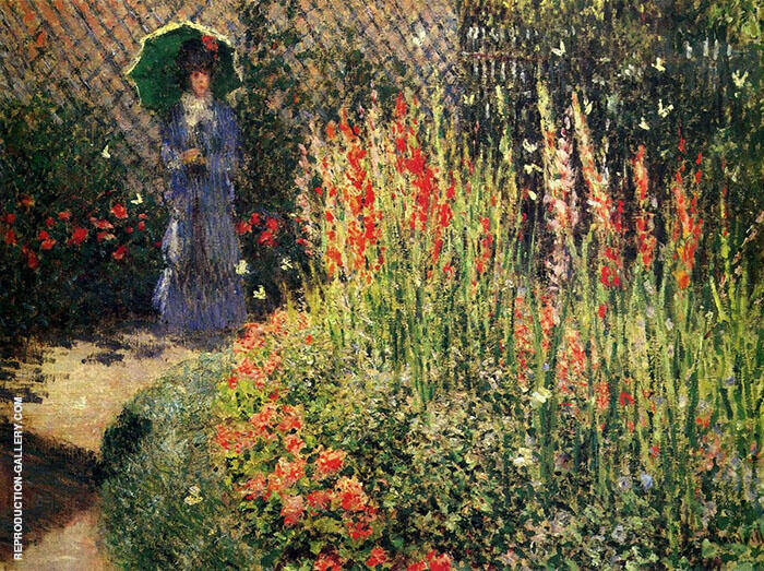 Gladioli 1876 By Claude Monet