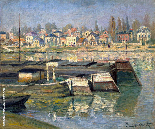 The Seine at Asnieres 1873 By Claude Monet