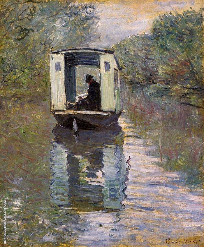 The Studio Boat 1876 - 1 By Claude Monet