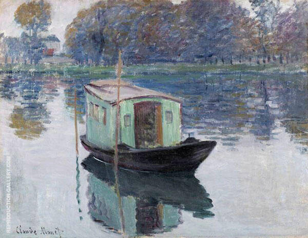 The Studio Boat 1874 By Claude Monet