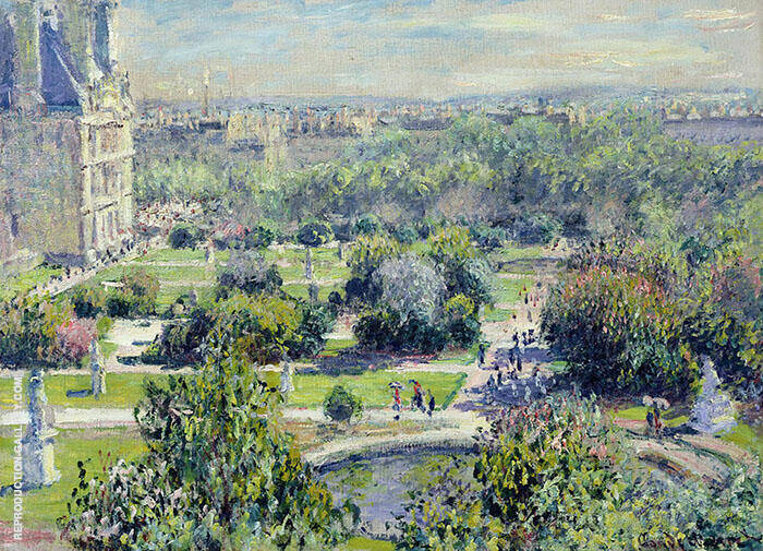 The Tuileries 1876 By Claude Monet