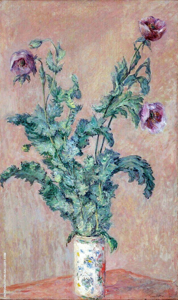 Vase of Poppies 1883 By Claude Monet