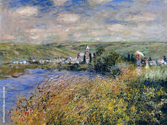 Vetheuil Seen from the Ile Saint Martin 1880 By Claude Monet