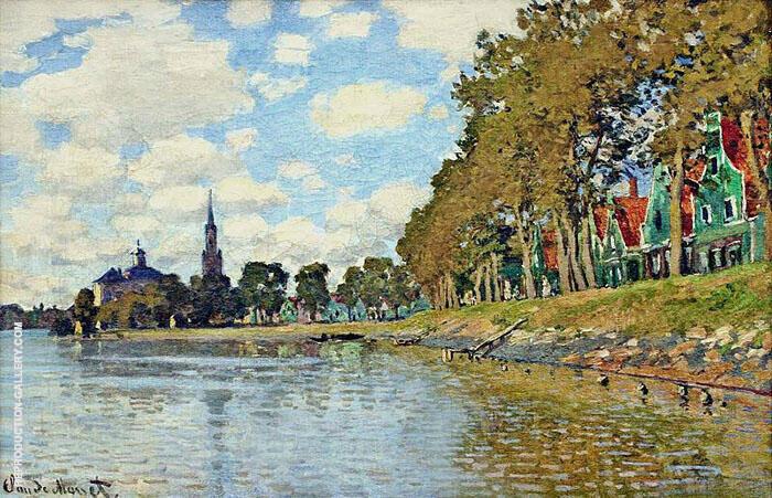 Zaandam 1871 By Claude Monet