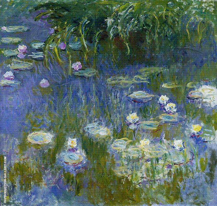 Yellow and Lilac Water Lilies 1914 By Claude Monet