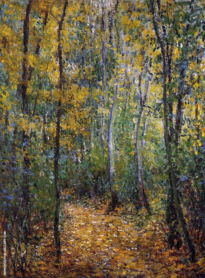Wood Lane 1876 By Claude Monet
