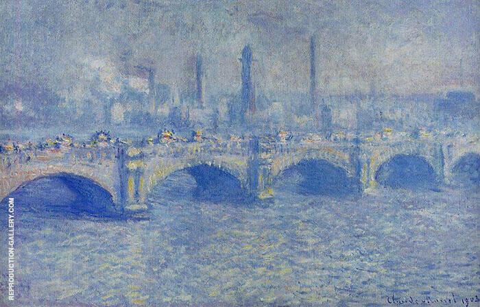 Waterloo Bridge Sunlight Effect 1899 By Claude Monet