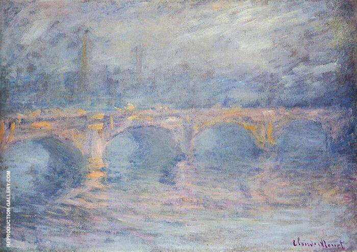 Waterloo Bridge Sunlight Pink Effect 1899 By Claude Monet