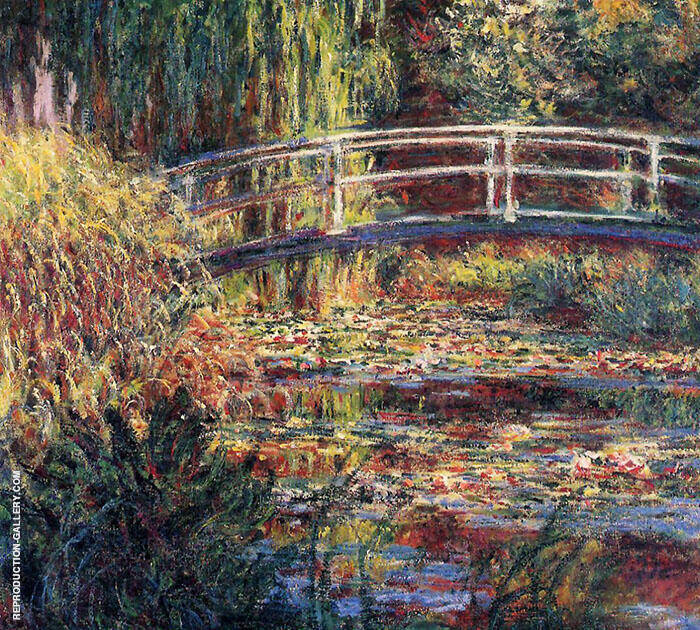 Water Lily Pond Symphony in Rose 1900 By Claude Monet