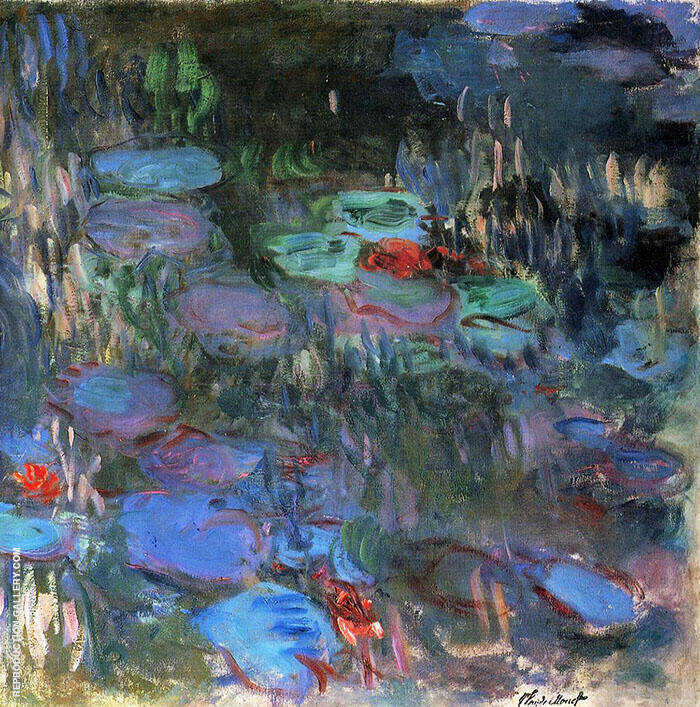 Water Lilies Reflections of Weeping Willows 1916 By Claude Monet