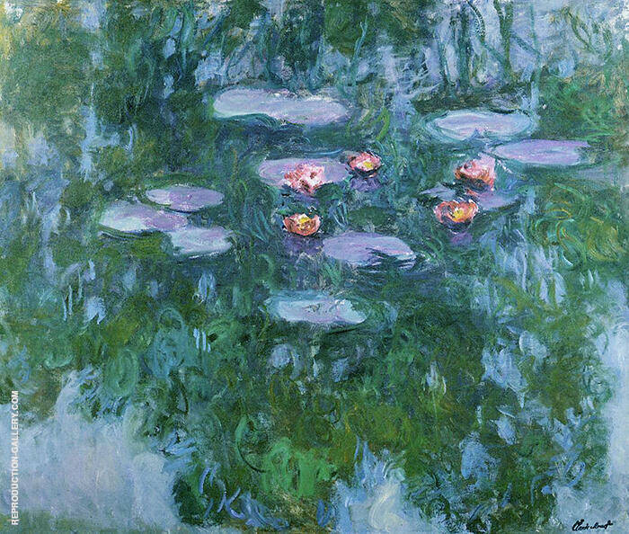 Water Lilies 1916 detail 1 By Claude Monet