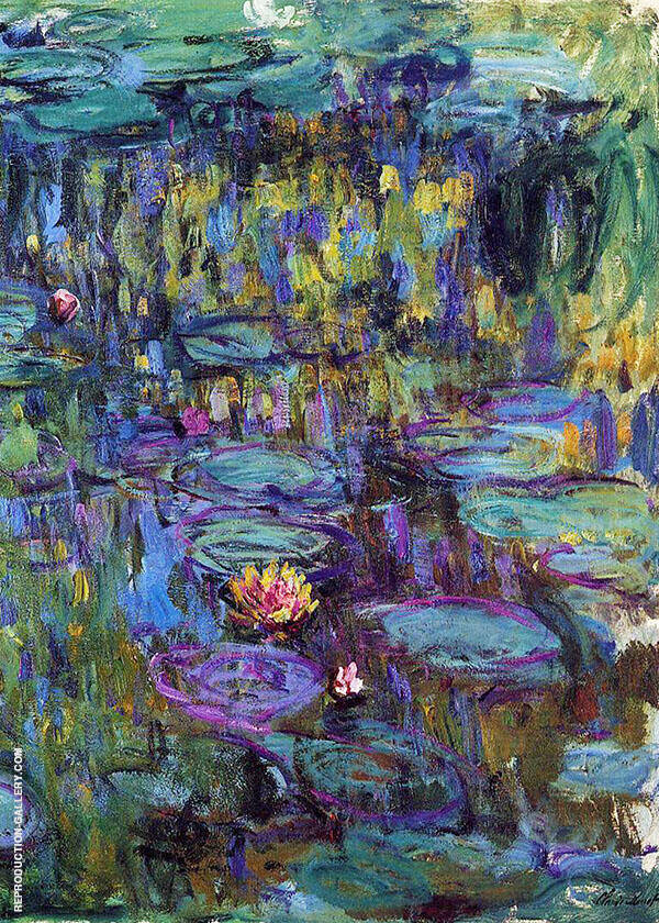 Water Lilies c1914 By Claude Monet