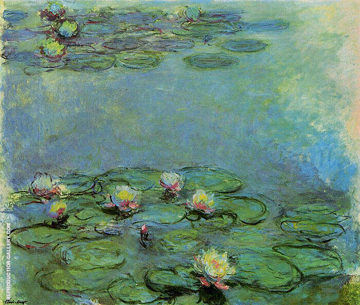 Water Lilies c1914 Detail G By Claude Monet