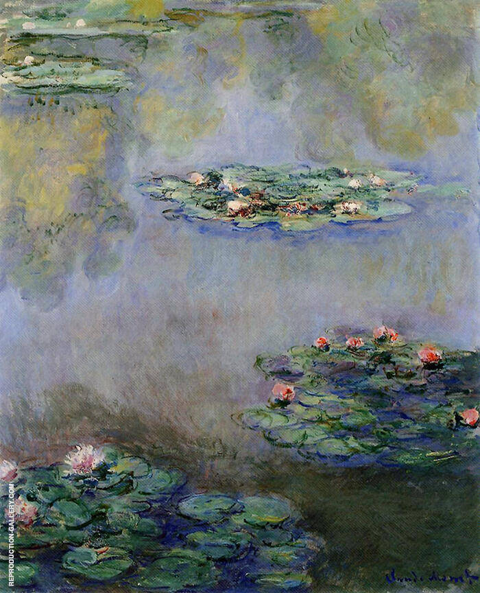 Water Lilies c1908 By Claude Monet