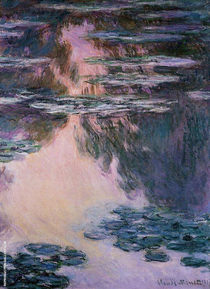 Water Lilies c1907 By Claude Monet