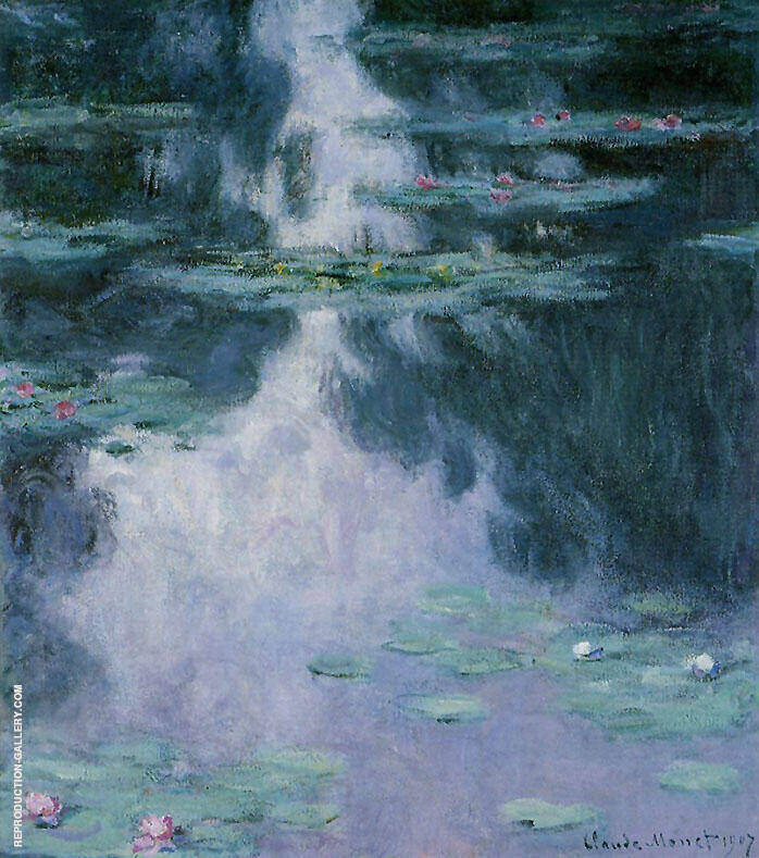 Water Lilies c1907-2 By Claude Monet