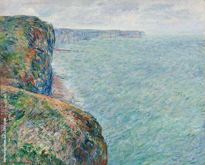 View to the Sea from the Cliffs 1881 By Claude Monet