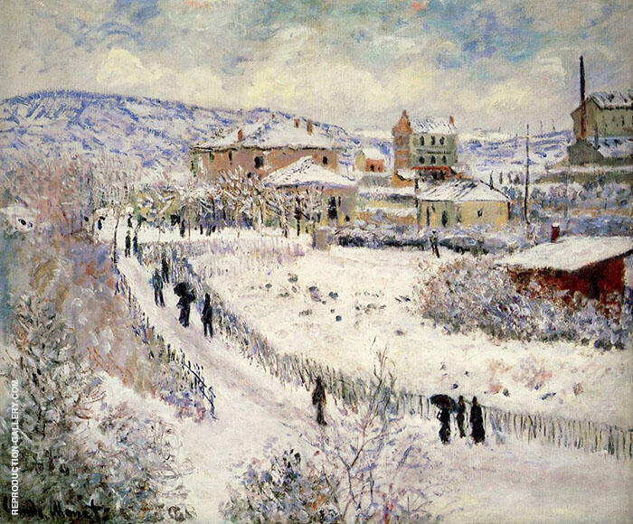 View of Argenteuil in the Snow 1875 By Claude Monet