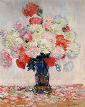 Vase of Peonies 1882 By Claude Monet