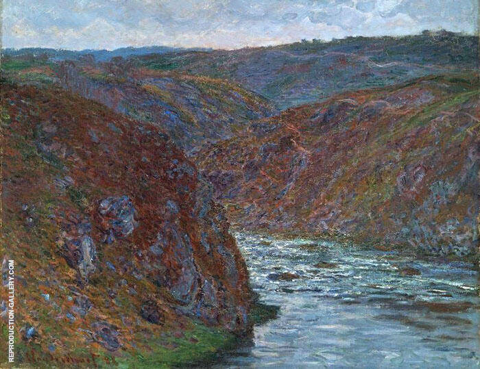 Valley of the Creuse Gray Day 1889 By Claude Monet