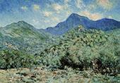 Valle Buona near Bordighera 1884 By Claude Monet