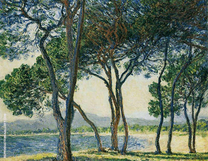 Trees by the Seashore at Antibes 1888 By Claude Monet