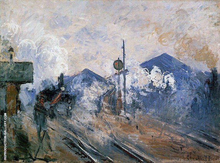 Track Coming Out of Saint Lazare Station 1887 By Claude Monet